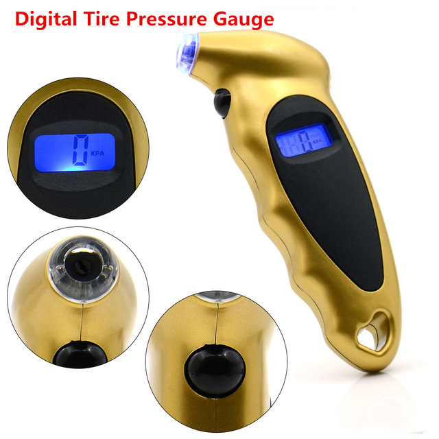 נייד מיני Keychain הדיגיטלי LCD 2 150 PSI צמיג צמיג גלגל סוג לחץ מד Tester תהלוכת כלי צמיג לחץ צג