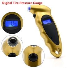 Portable Mini Keychain Digital LCD 2 150 PSI Tire Tyre Wheel Type Pressure Gauge Tester Procession Tool Tire Pressure Monitor