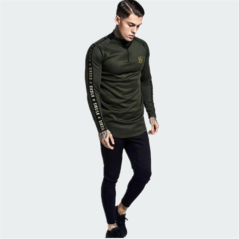 Silk Silk Sweatshirt Men Hip Hop Sik Sweatshirts Streetwear Long Sleeve T Shirt Men Siksilk Undershirt Sik Silk Male T-shirt
