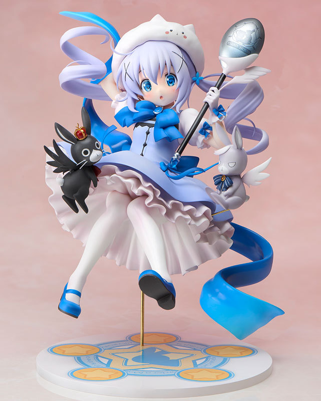 New Hot 21cm Anime Is The Order A Rabbit Kafuu Chino Magic Girl 1/7 Scale Painted PVC Action Figure Model Toys Collection Doll