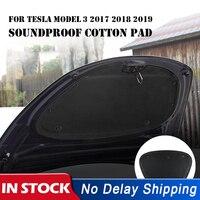 Neue Auto Front Motorhaube Noise Reduktion Matte Schallschutz Baumwolle Pad Für Tesla Modell 3 2017 2018 2019 Hitzebeständigen Pads zubehör-in Geräusch- & Wärmedämmende Baumwolle aus Kraftfahrzeuge und Motorräder bei