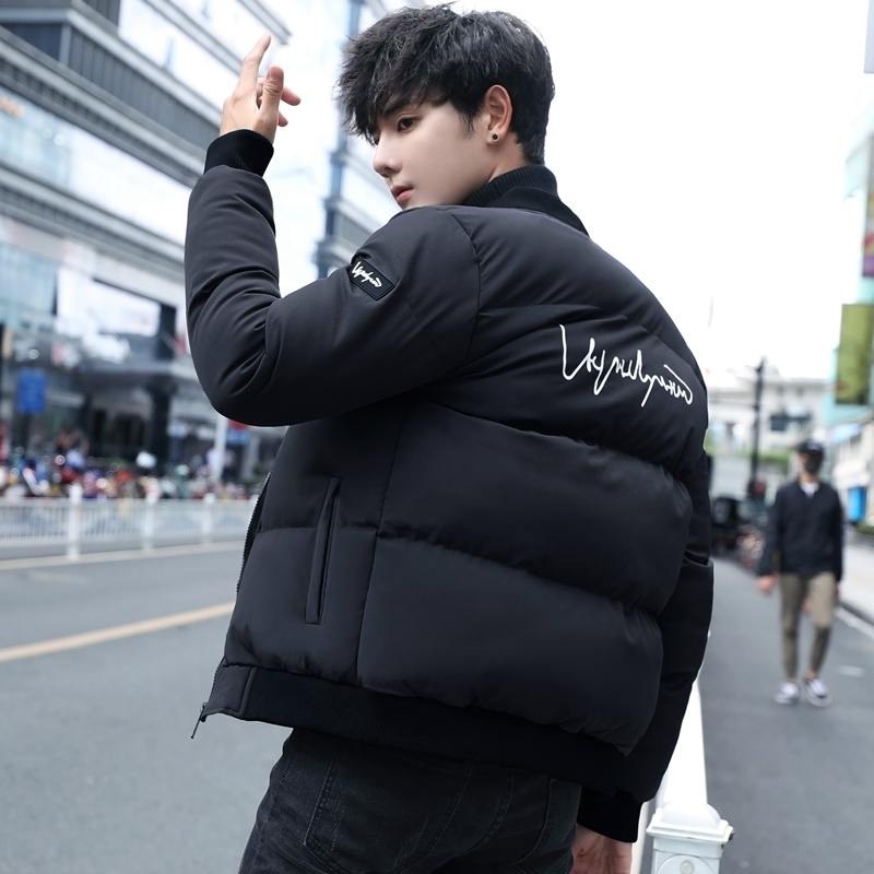Men's Jacket Winter Pilot Cotton Jacket Short Slim Casual Street Jacket 2019 Youth Trendy Thicken Warm Clothes