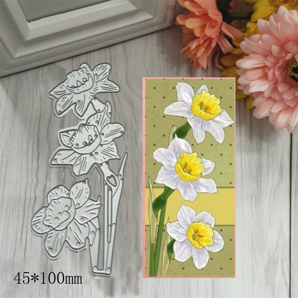 Cute Flower Metal Cutting Dies Stitched DIY Scrapbooking Stamps Craft Embossing Die Cut Making Stencil Template New 2020