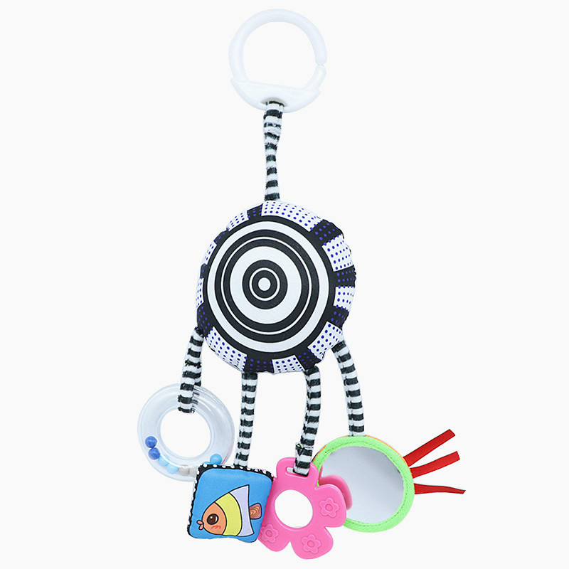 Infant Crib Stroller Hanging Mobile Bed Toy Baby Plush Toys Rattles Stuffed Doll With Teether Newborn Babies Gifts Toddler Toys