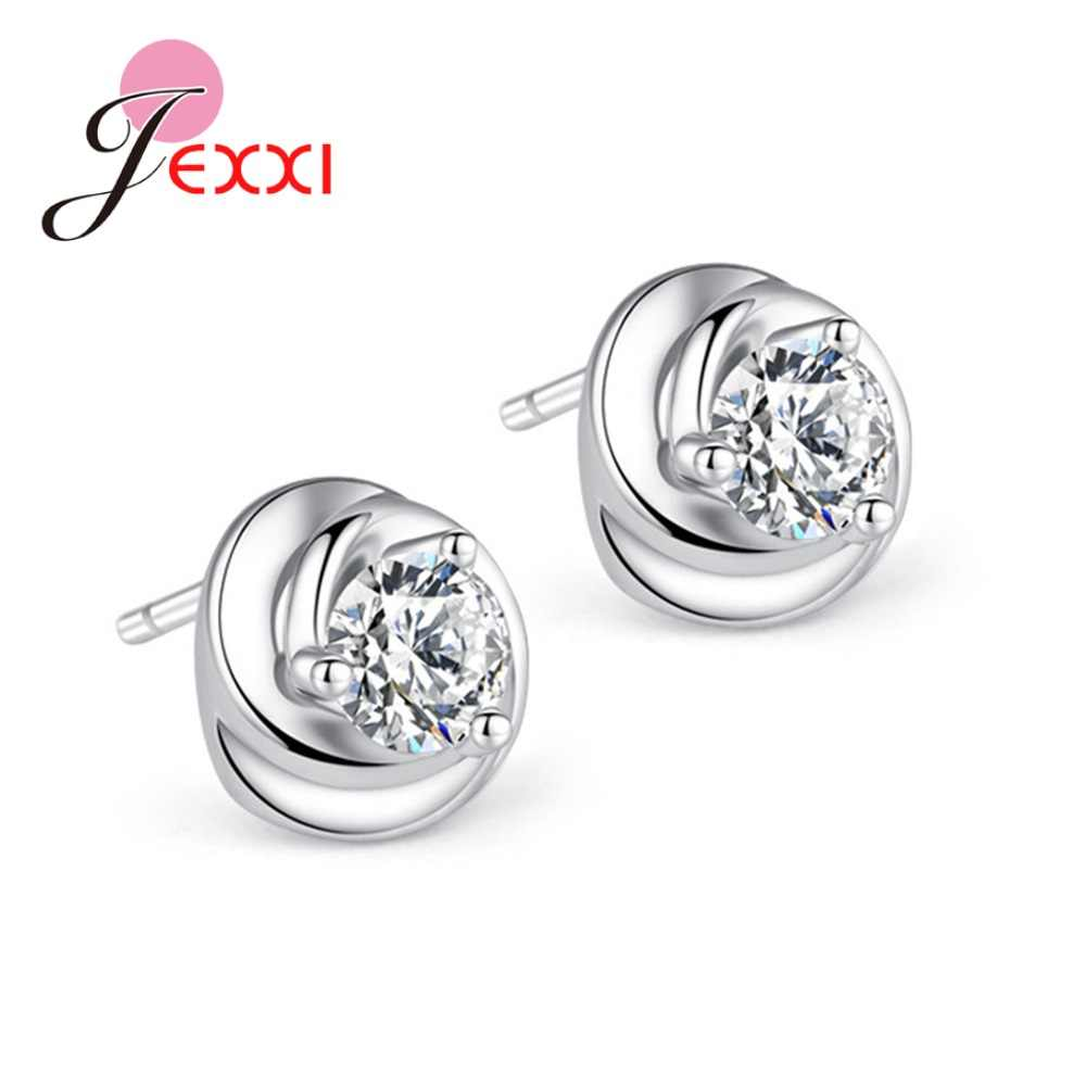 Top Quality Original 925 Sterling Silver Flower Stud Earrings Sweet Design Jewelry Gifts for Women Wedding Engagement