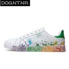 Four Seasons Couple Models Inkjet Vulcanized Shoes PU Trend Student Color