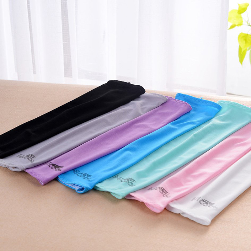 Cycling Arm Sleeves Warmer Running UV Protection Volleyball Sunscreen Bands Fingerless Ice Silk Gloves Sleeves Fashion