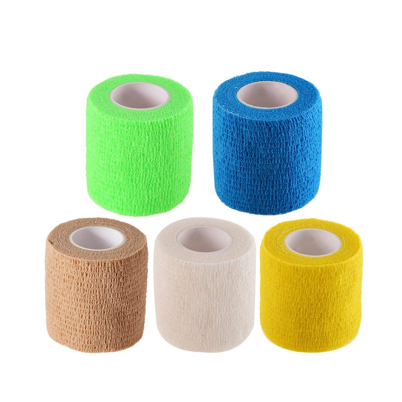 2.5cm*5m Self-adhesive Elastic Bandage Non-woven Sports Bandage   Health Care Medical Stretch Wrap Athletic Tape For Wrist Ankle