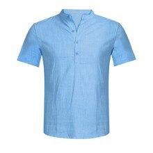 Summer Men's Casual T-shirts Hawaiian Cotton Linen T-shirt Loose Tops Short Sleeve Tee Shirt Tee Tops High Quality Retro Tops