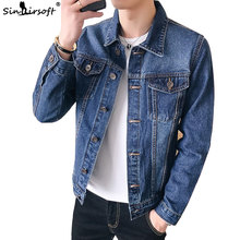 2019 New Autumn Mens Denim Jeans Jacket Jaket Men Retro Mens Cowboy Slim Jacket Fashion Coat Casual Chaqueta Hombre Jackets