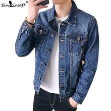 Мужская джинсовая куртка, облегающая куртка в стиле ретро, 2019