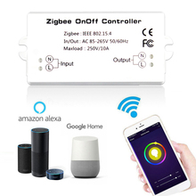 ZIGBEE AC85-265V 50/60Hz Smart Switch Basic Smart Home Remote Control Module On/Off Controller On/Off Controller For Alexa