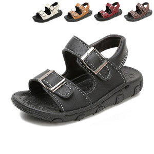 Image 3 - KINE PANDA Boys Sandals Girls Kids Shoes Summer Toddler Baby Boy Girl Genuine Leather Children Sandals 1 2 3 4 5 6 Years Old