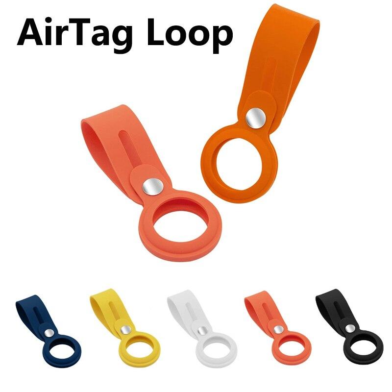 Силиконовый чехол для Apple AirTag петля защитный устройство против потери брелок защитный рукав для Apple AirTag защитный чехол