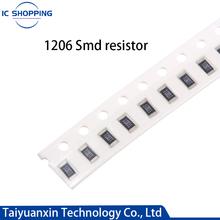 100Pcs SMD Resistor 1206 0R ~ 10M 1/2W 0 1 10 100 150 220 330 Ohm 1K 2.2K 4.7K 6.8K 10K 100K 0R 1R 10R 100R 150R 220R 330R 680R