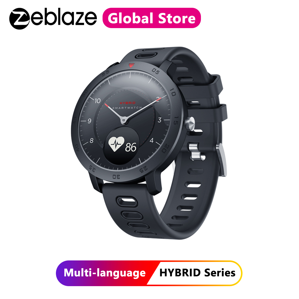 Zeblaze Hybrid Smartwatch Heart Rate Blood Pressure Monitor Smart Watch Exercise Tracking Sleep Tracking Smart Notifications
