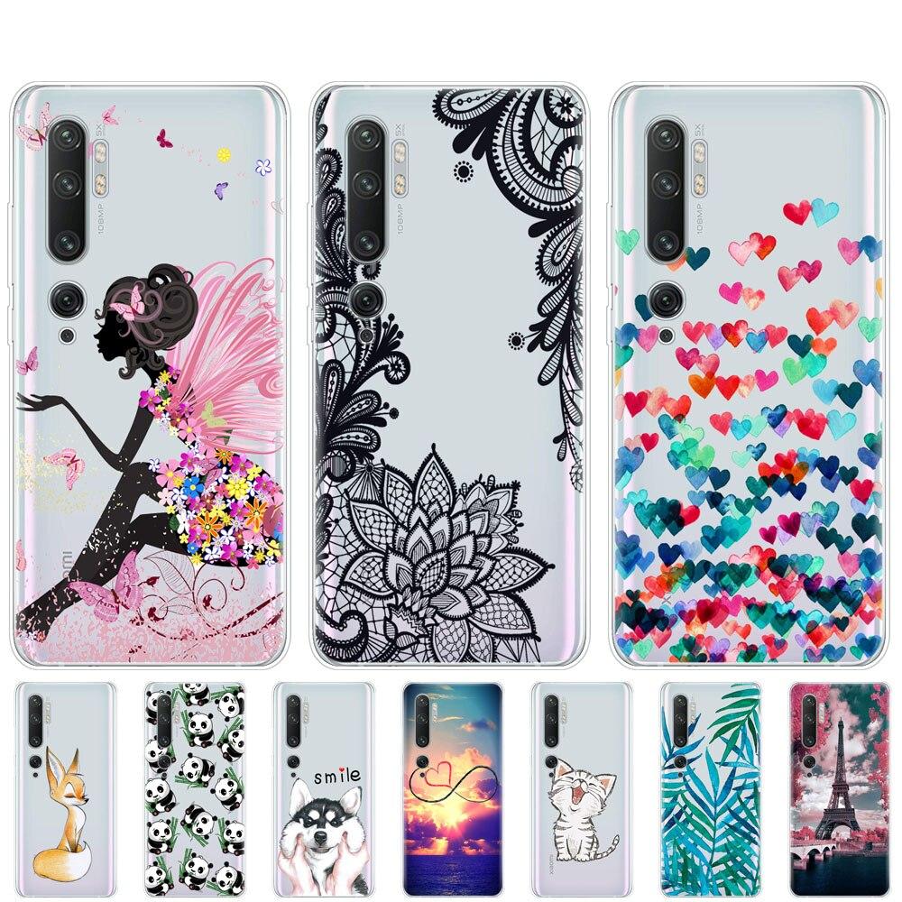Case For Xiaomi Mi Note 10 Case Soft Silicon Phone Cover For Xiaomi Mi Note 10 Pro  Xiomi Note10 Bumper Coque Transparent Cute