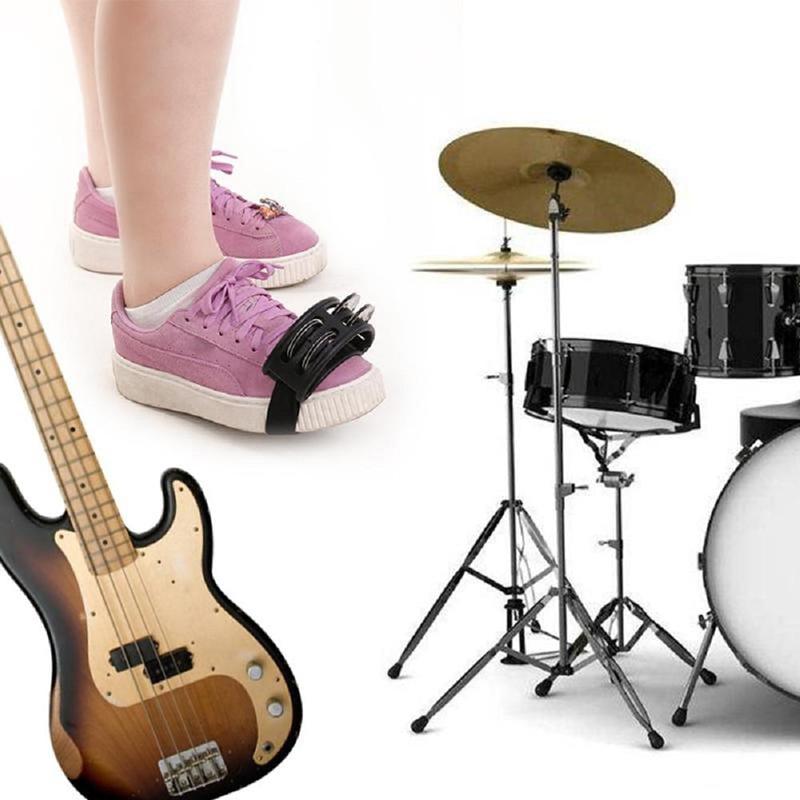 Schlagzeug Foot Tambourine Zubehör Jingle Percussion Musical Companion