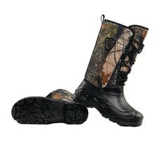 Уличные рыбацкие зимние сапоги; военные тактические сапоги до колена; резиновые сапоги; непромокаемая флисовая обувь для походов и охоты; камуфляжная обувь