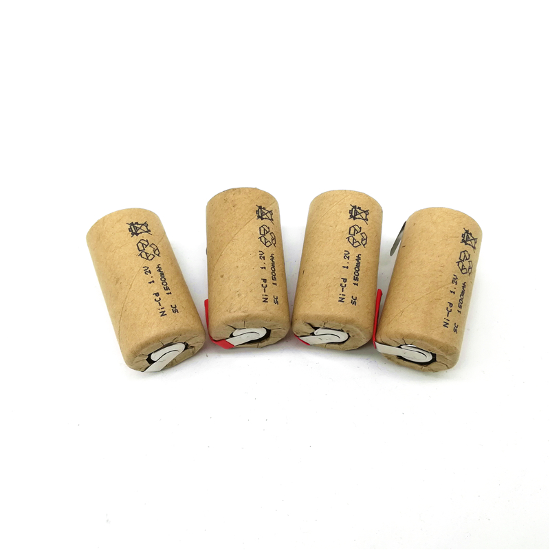 High Quality Battery Rechargeable Battery Sub  Battery SC Battery  1.2 V With Tab 1500 Mah For/LED OR Electrical Tools