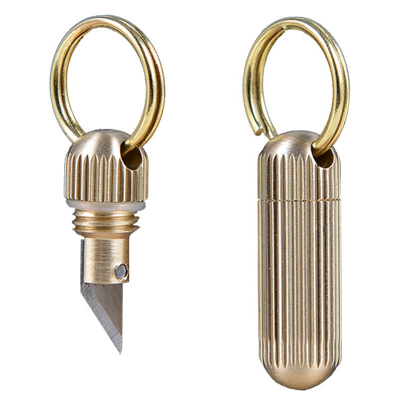 Multi-function Mini Keychain Portable Outdoor Survival Emergency Tool Stainless Steel EDC Key Ring