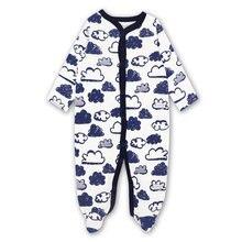 Одежда для новорожденных мальчиков и девочек пижама сна комбинезон