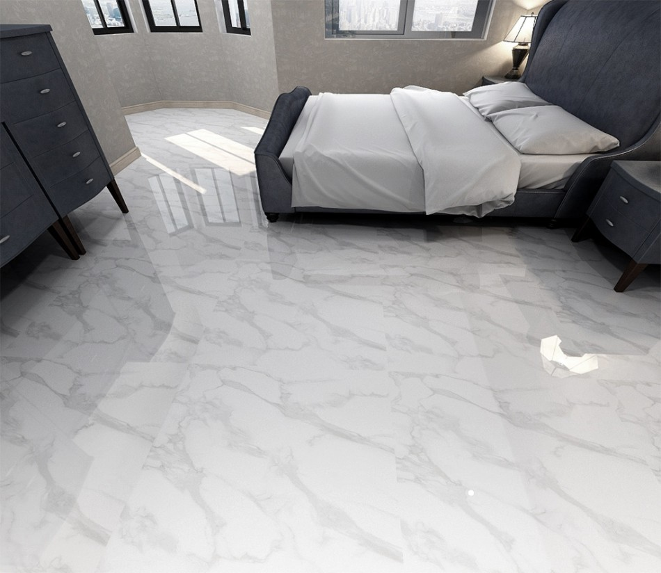 3d Flooring Painting  Flooring Papel De Parede 3d Flooring White Stone Floor Living Room Wall Bedroom Full-body Marble Floor