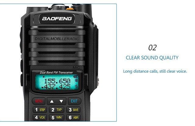2pcs 8000mah 10W Baofeng UV-9R plus waterproof walkie talkie for CB ham radio station 10 km two way radio uhf vhf mobile plus 9r (32)
