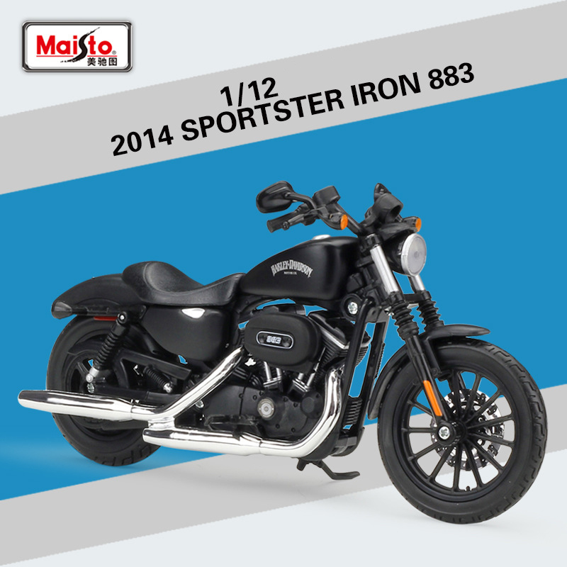 1:12 2014 SPORTSTER IRON883 Maisto Model Car Metal Diecast Model Sport Race Motorcycle Model Motorbike For Collectible