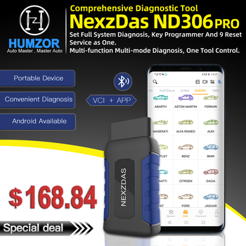 HUMZOR NexzDAS ND306 full system OBD2 Scanner Auto Diagnostic Tool Key Programmer Diagnosis for Passenger Car PK Easydiag AP200 new thinkcar thinkdiag same as easydiag 3 0 x431 bluetooth adapter update online full system obd2 scanner diagnostic tool