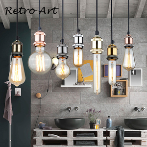 Image 5 - Simple Pendant Light Kit E27 Lamp Holder With Textile Cable Wire And Ceiling Rose lamp Cord Set
