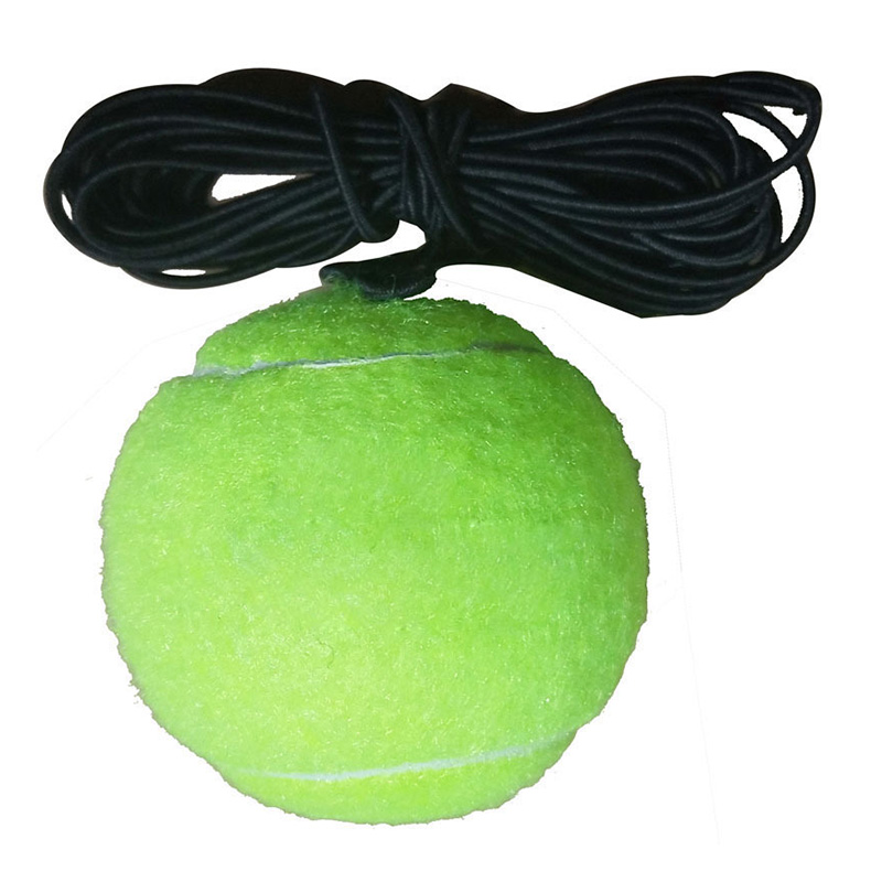 1 Set Tennis Trainer Tennis Base+Training Ball With Rope Durable Easy To Use EDF88