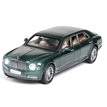 1:24 Limousine Alloy Diecast Model Car Collection Toy Sound & Light Car Model Decoration Gift For Children 1 18 diecast model for ford tourneo brown mpv alloy toy car miniature collection gift