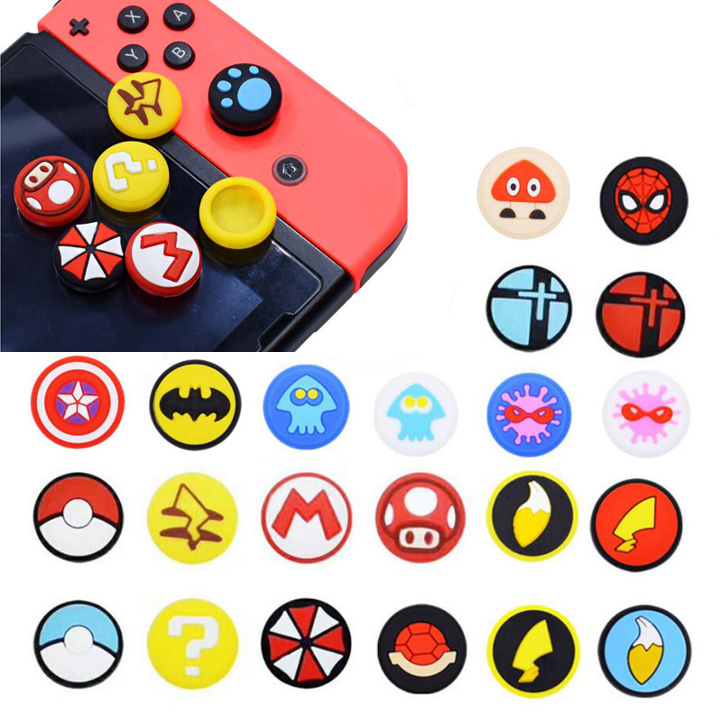 New Joystick Thumb Stick Grip Cap Skin For Nintend Switch/lite NS Joy-Con Controller Pokeball JoyCon Gamepad Thumbstick Case