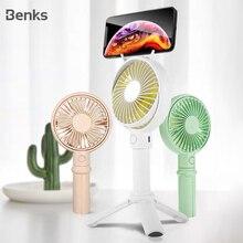 Benks мини настольный вентилятор портативный мобильный держатель вентиляторы ручной открытый USB вентилятор воздушный охладитель маленький настольный офисный штатив вентилятор перезаряжаемый