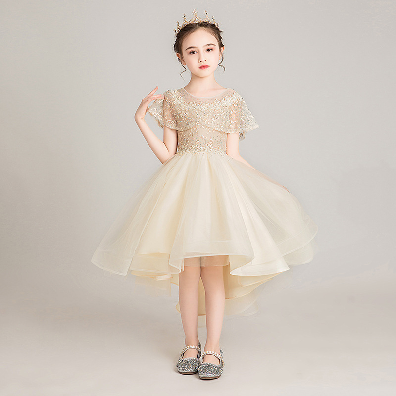 Image 3 - High Quality Lace Appliques Beading Ball Gowns Beading Length Pageant First Communion girls formal wedding party dress-in Flower Girl Dresses from Weddings & Events