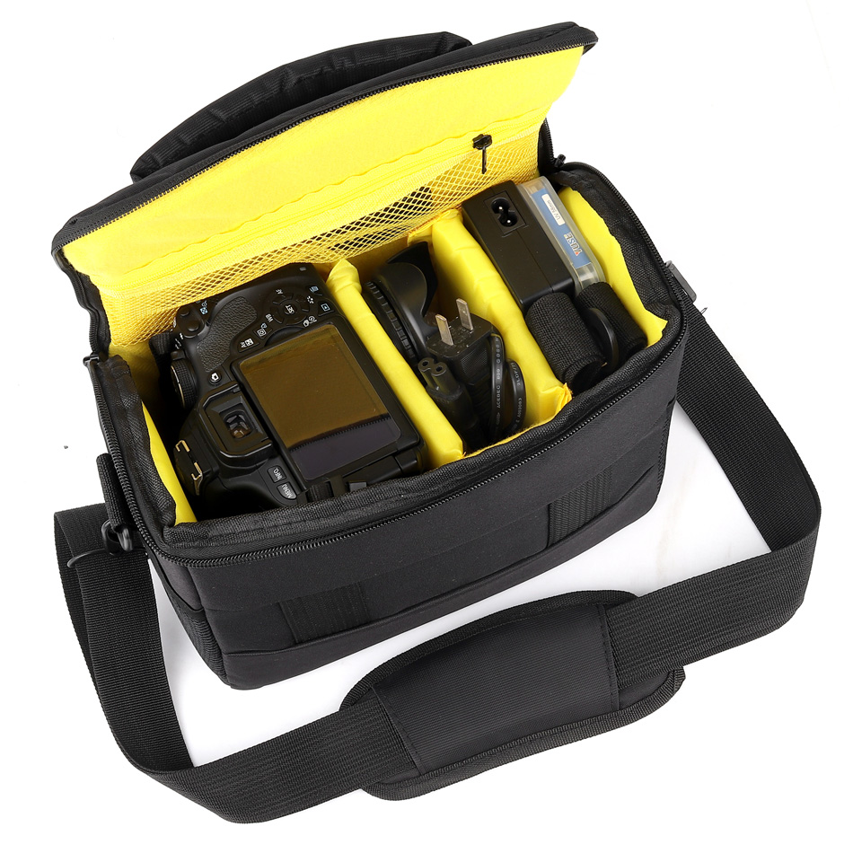 DSLR Camera Bag Waterproof Shoulder Case For Nikon D3400 D3300 D3200 D7200 D7100 D90 D750 D5300 D5200 D5100 D3100 Foto Photo Bag image