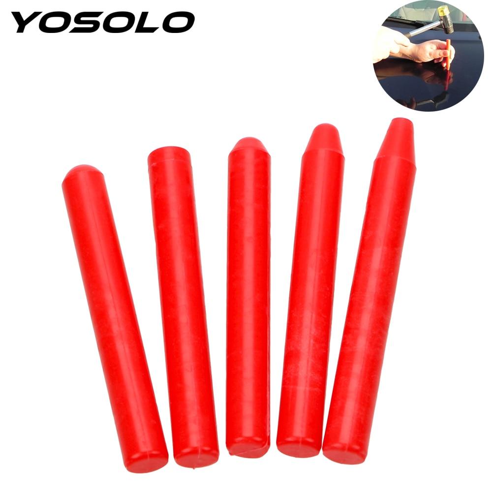 YOSOLO 5 Piece/set Car Bump Pits Flattening Pen Plastic Tapping Pen Car Body Repair Tool Paint Dent Repair Tool
