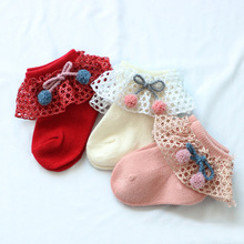 Short Socks Newborn Girl Infant Princess Cotton Summer Cute Lace Soft Solid Bows