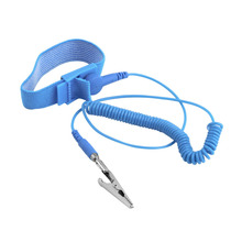 ESD Wrist Strap Alligator Clip Anti Static Discharge Band Grounding Prevent Static Shock Wholesale 2018 New Arrival anti static wrist strap gram static wrist band tester 498 anti static quick 498 grounding wire detection instrument