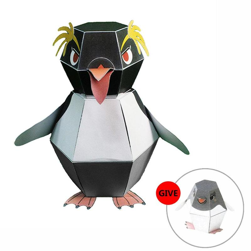 DIY Origami Model Bounce Penguin Haruki Nakamura Paper Toys Handmade Creative Practical Ability Kirigami Folding Adorable Toys