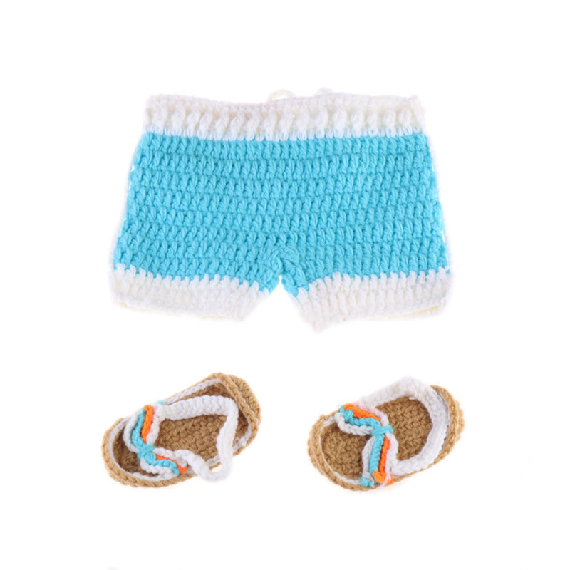 Baby One Hundred Day Photography Costume Cute Sunshine Beach Suit Hand Woven Photo Suit CHD20232