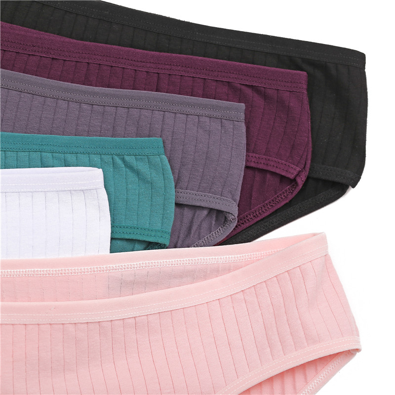 Ha2b8db16bb054f419be0da60cc4eae2ds Ropa interior de algodón suave para mujer, calzoncillos de colores sólidos a rayas, lencería Sexy para mujer, M-XL íntima