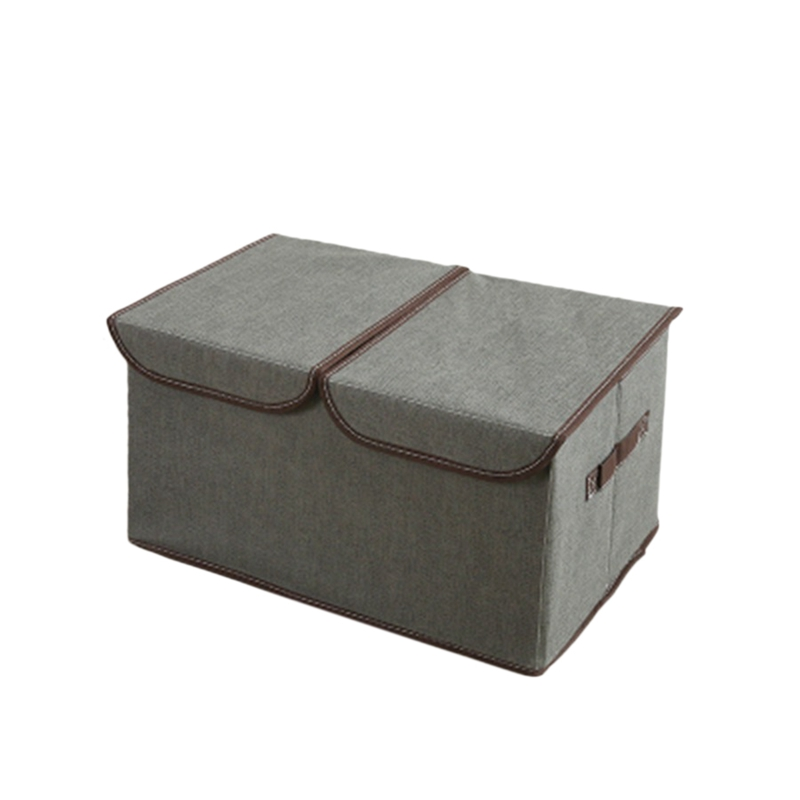 2 Pack Larger Storage Cubes Fabric Foldable Collapsible Storage Cube Bin Organizer Basket with Lid Handles Removable Divider for