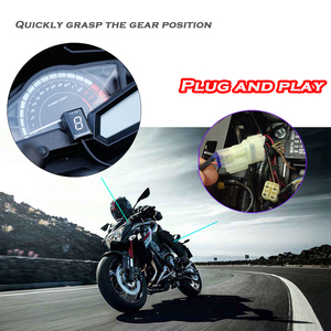 Image 3 - Indicador de Marchas de Motocicleta Impermeable LED Display para Kawasaki ER6N Z1000SX Ninja 300 400 Z1000 Z800 Z750 versys 650 Z400 ER 6F KLE650 VULCAN S 650 VN900 ZRX1200 Z650 Brute Force 750 Teryx all years