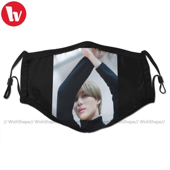 Taemin Mouth Face Mask Taemin Lee Shinee Kpop Poster No 1 Facial Mask Fashion Cool with 2 Filters for Adult