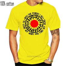Camiseta de algodón para hombres y mujeres, camisa divertida Unisex de S-6Xl, de Camping y en el bosque, Go To Lose My Mind, color dorado, nueva