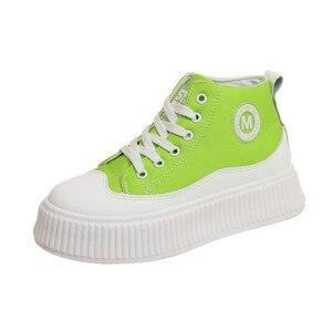 Image 2 - SWYIVY بولي ivy Chaussure فام جديد حذاء كاجوال امرأة أحذية رياضية 2020 الربيع منصة أحذية رياضية للنساء موضة الأخضر السيدات حذاء 39