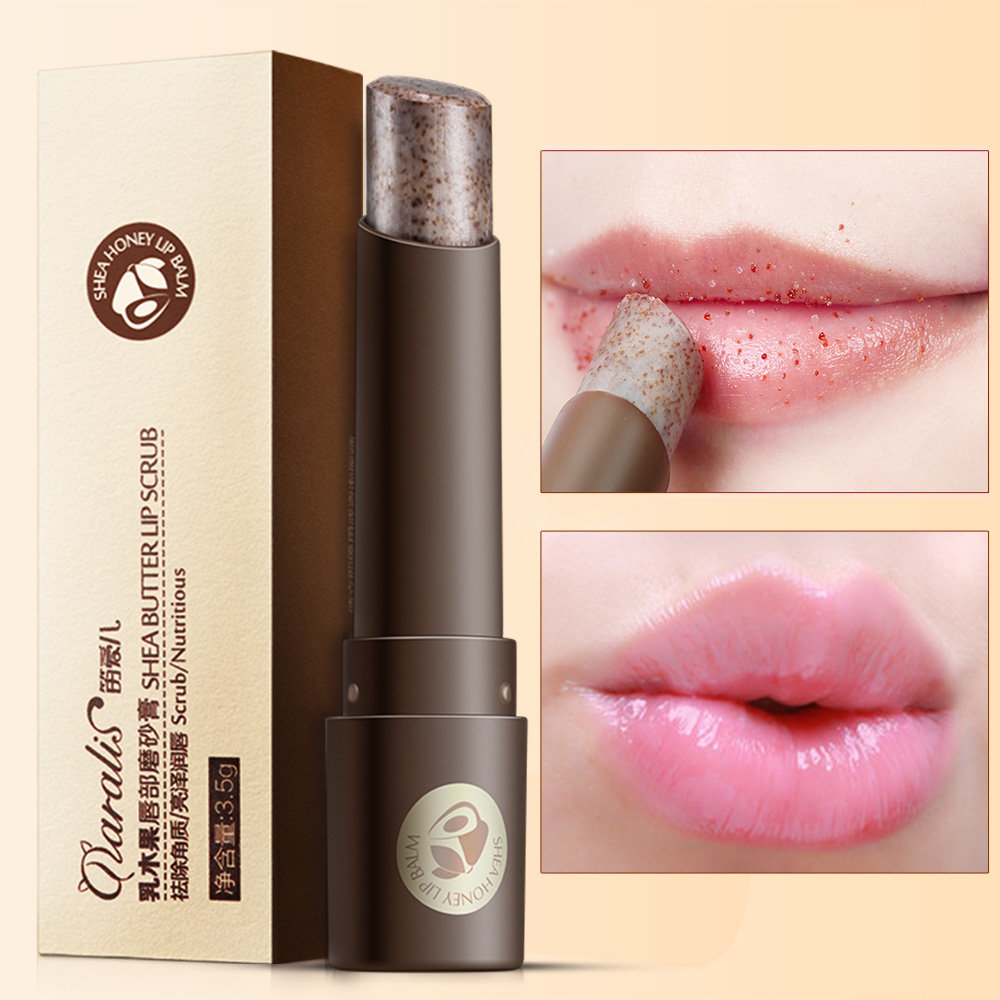Lip Exfoliating Scrub Full Lip Balm Fade Lip Lines Repair Lip Skin Nourishing Moisturizing Shea Butter Lip Care image