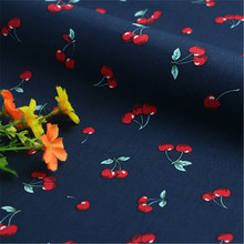 Idyllic style hand-stitched DIY fabric plain weave printed cotton hug pillowcase sheets tablecloth clothing fabric